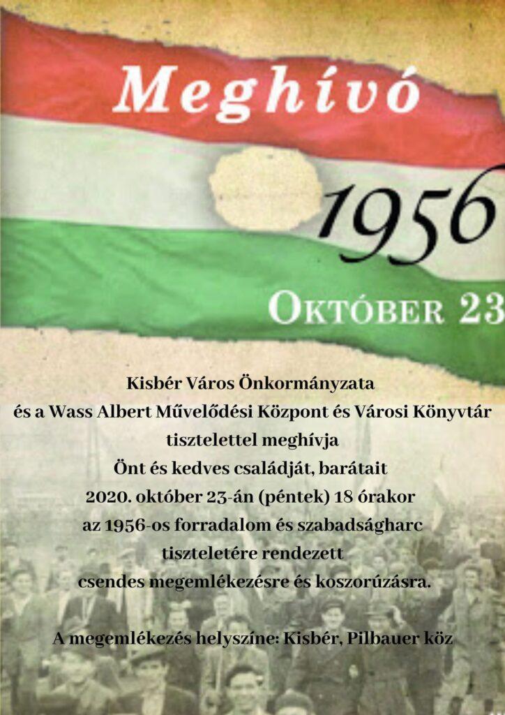 1956 Október 23. Ünnepi Megemlékezés